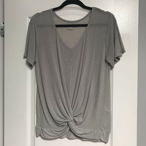 Knot Front Basic Tee